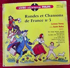 Philips Livre disque Rondes et Chansons de France n°3 Marie-Madeleine petit papa
