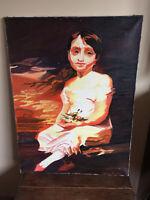 tableau ancien huile sur toile HIPPOLYTE V?N ?RIO?E (XXe-s) portrait