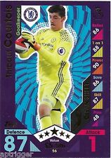 2016 / 2017 EPL Match Attax Base Card (56) Thibaut COURTOIS Chelsea