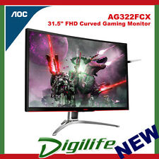 "AOC Agon AG322FCX 31.5"" Curved Gaming Monitor 4ms FHD 144Hz FreeSync HDMI DVI DP"