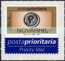 ITALIA 2004  -  POSTA PRIORITARIA  0,80 centro in serigrafia NUOVO