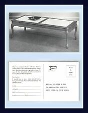 NEW YORK CITY KREBS STENGEL & CO. FURNITURE FORMICA LAMINATED TABLES CIRCA 1957