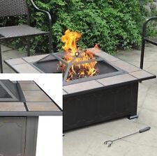Backyard Fire Pit Ceramic Table Top Antique Bronze Furniture Patio Yard Outdoor