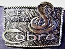VINTAGE ADVERTISING COMMUNICATIONS BELT BUCKLE COBRA CB RADIOS SNAKE LEWIS