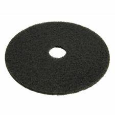 """Hubert Floor Cleaning Pad Black Plastic 20"""" dia 5 Per Case"""
