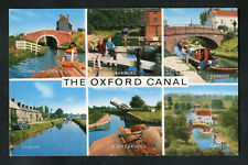 Posted 1980: Multiviews of Oxford Canals: Narrow Boats, Lift Bridge: Napton