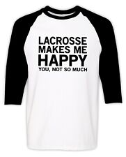 Funny Lacrosse Coach Player T-shirt Funny Humor Joke Sports Raglan Tee Gift