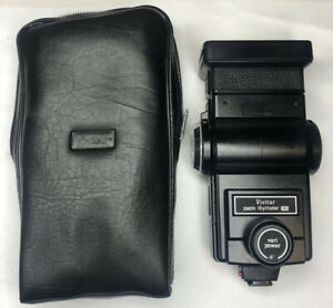 Vintage Vivitar Zoom Thyristor 285 Flash Unit W/Case - UNTESTED
