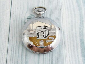 Russian Pocket Watch MOLNIJA Kaaba - the Sacred stone of Mecca 18 jewels c. 3602