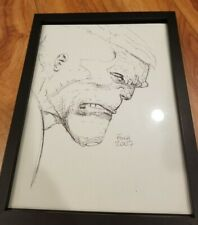 David Finch Hulk Avengers Marvel original comic art drawing sketch 9x12