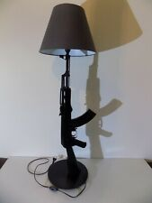 LAMPE DESIGN AK47 KALASHNIKOV OR (chevet bureau table salon lamp kalash ak gun )