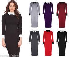 Collar Stretch Midi Dresses for Women
