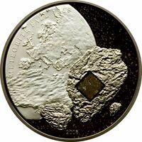 Cook Islands 2008 $5 Silver Proof Pultusk Palladium Meteorite CoA & Tin case