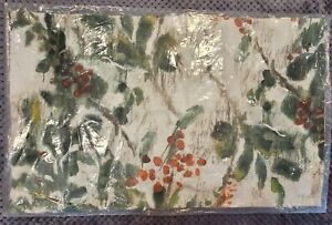 """Pottery Barn Painted Holly Branch Lumbar Pillow Cover, 16"""" x 26"""", Free Shipping"""
