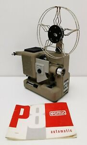 Vintage 1960s Eumig P8 Automatic 8mm Cine Film Projector Instructions Case