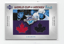 REDDEN BREWER 2004-05 UD WORLD CUP OF HOCKEY DUAL CANADA TRIBUTE NHL JERSEY