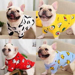 Cartoon Small Dog Warm Winter Fleece Clothes Pet Puppy Cute Vest Dog Cat Apparel