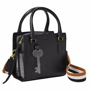 Fossil Hope Crossbody Bag Black Leather Purse