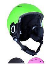 Kids Ski Helmet Green Junior Snowboarding Helmet 52 to 56 cm Ages 4 to 8 Years