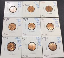 BU 1C Wheat Coins Lot Of (9)