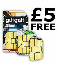 Giffgaff sim with £5 free credit international credit sim card European uk
