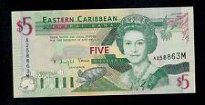 EAST CARIBBEAN STATES  5 DOLLARS ( 1994 ) MONTSERRAT  PICK # 31m AU.