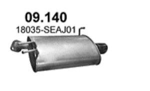 Silencieux Échappement Pour Honda Accord VII 2.4i 16V 02/2003 à Gauche