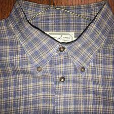 Cooper Jones Purple-Beige Plaid 100% Cotton Sport Shirt Exc. Cond Size 1Xb