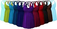 Many Colors 2pc Halter Swimsuit Swimdress Plus Size 0x 1x 2x 3x 4x 5x 6x 7x 8x