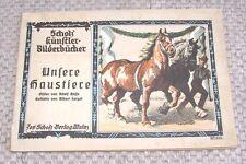 Scholz künstler - Bilderbücher Unsere Haustiere Nr. 335 Scholz Verlag Mainz 1915