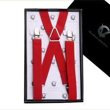 Boy's Braces Bright Red Cherry X2.5cm Boys Suspenders Kids