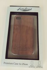 Lucky Brand Hardcase Wood Grain Phone Case Cover Apple iPhone 4 4S New In Box