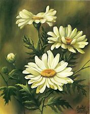 Set of 5 Prints of Beautiful 'Daisies' for Decoupage