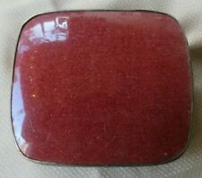 VERY LARGE CHINESE SILVER BURGUNDY RED ENAMEL BOX