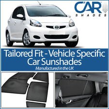 Toyota Aygo 5dr 05-14 UV CAR SHADES WINDOW SUN BLINDS PRIVACY GLASS TINT BLACK