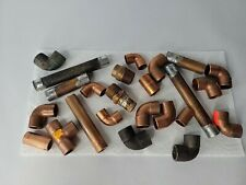 Plumbing Parts Tube Fittings 19 Copper 4 Steel Elbows Various Sizes