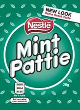 902729 BOX OF 48 x 20g PACKETS OF NESTLE'S FAMOUS CHOCOLATE MINT PATTIE! AUS