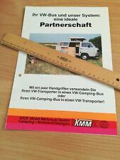 original Prospekt Volkswagen VW T3 Campingbus Fa. KMM ähnlich Westfalia