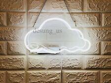 "New Cloud Neon Light Sign 14"" Lamp Beer Pub Acrylic Real Glass Gift Handmade"