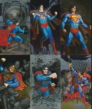 1994 SUPERMAN MAN OF STEEL PLATINUM SERIES SPECTRA-ETCH CHASE CARDS S1-S6
