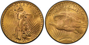 1927 AV $20, Double Eagle PCGS MS66 Saint-Gaudens Philadelphia. Liberty KM 131.