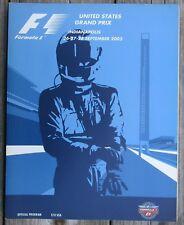 2003 United States Grand Prix Program