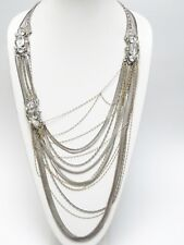 SIGNED ERICKSON BEAMON INCREDIBLE MULTI STRAND SWAROVSKI CRYSTALS NECKLACE