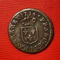 #1159 - LOUIS XV Liard 1774 I Limoges TTB - FACTURE