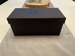 WOLF Watch Case Blake -Luxury Travel Triple Case Black Leather, Lined Watch Roll