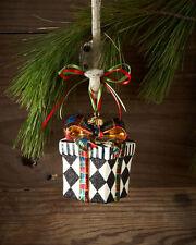 Mackenzie-Childs Harlequin Present Glass Ornament *NIB* Item #53913-32