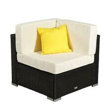 1 x Outdoor Rattan Wicker Corner Sofa Couch Patio Garden Furniture w/Cushion