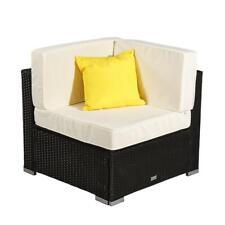 1 x Outdoor Rattan Wicker Corner Sofa Couch Patio Garden Furniture w/Cushion