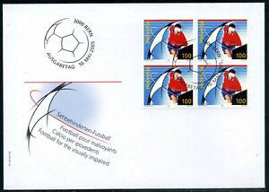 Switzerland, 2005, Visually impaired football FDC. 4 block. Mi. 1925