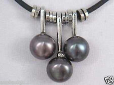 Fashion 7-8mm black Freshwater Pearl Pendant Necklace